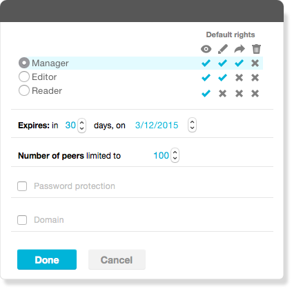 Share files with partners and customers without losing control